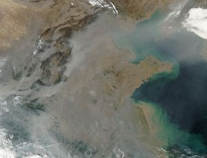 Pollution Over East China via Wikimedia Commons